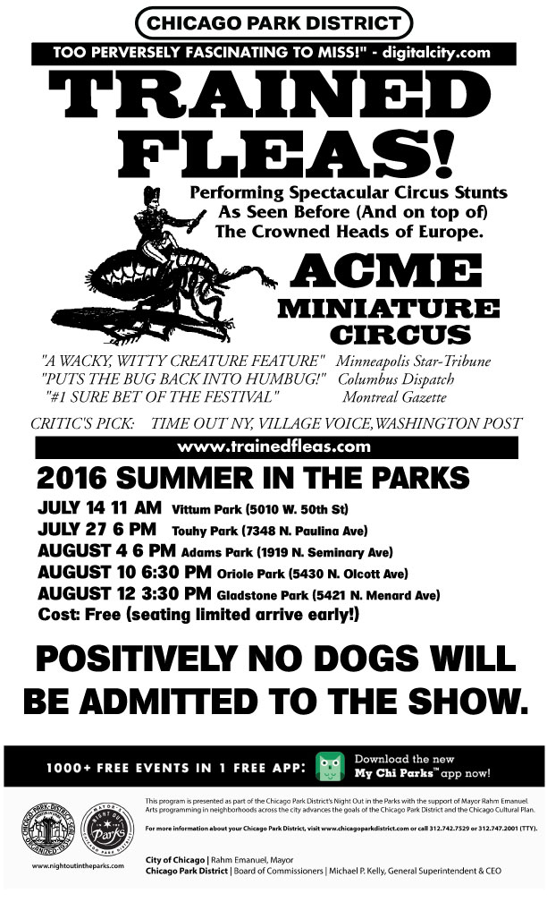 Acme Flea Circus Chicago Parks 2016