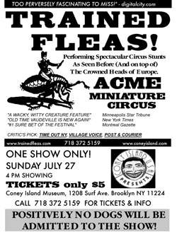 Coney Island Flea Circus Poster